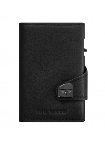 Держатель для карт TRU VIRTU CLICK & SLIDE Nappa Black Coin Pocket/Black